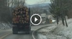 He had a terrible feeling when he got behind this truck…What he captured on video? Wow!