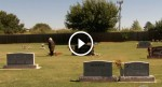 An old woman visits her husband's grave, but seconds later? SHOCKING.