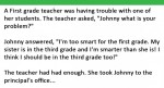 Her student says he's 'Too smart for 1st grade' her response is PRICELESS