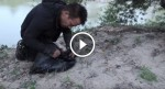 He comes across a moving garbage bag by a river. What he finds inside will break your heart