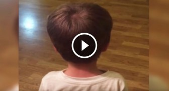 Toddler found his Dad's electric razor. Now watch when he turns around…OMG!