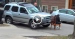 Rude Man Double Parks In Front Of A Church But A Neighbour Comes Out And Teaches Him A Lesson