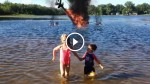 He Was Just Filming His Kids, But WHAT His Camera Captured Is Completely Amazing!