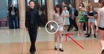 This Boy Turns Heads In A Public Place. Then Watch When This Girl Steps Beside Him.