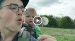 Dad Blows On A Dandelion — But Keep Your Eye On The Toddler. I'm Cracking Up!