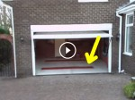 This Garage Looks Normal, But Watch What He Does When He Gets Out. Parking Two Cars Made EASY!