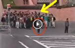 These 100 Pranksters Stand Behind An Unsuspecting Woman. What Happens Next? LOL!