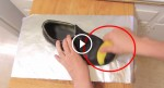 He Is Rubbing His Shoes With Banana Peel, Second After My Life Will Never Be The Same, This Is So Smart!