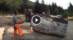He Fires Up His Chainsaw And Starts To Cut! What Comes Out of It Is A Masterpiece!