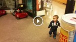 Toddler's First Reaction to Automatic Sliding Doors is Totally Adorable