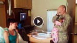 Soldier Traveled 22 Hours To Meet His Newborn Daughter for The First Time. Now, Watch When He Opens His Eyes….