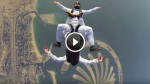 Watch This Jaw-Dropping Skydiving Performance over The Iconic Palm Islands! Awesome!