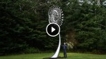 He Stands By His Giant Sculpture. Now Watch When The Wind Starts to Blow! Astonishing!