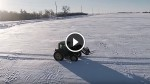 What This Lone Farmer Does in The Snow is Just Incredible! Watch When The Camera Zooms Out!