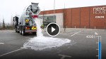 This Truck Dumps Gallons of Water Onto The Pavement And The Water Magically Disappears! Amazing!