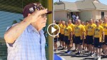 Navy Officers Surprise WWII Veteran By Singing 'Anchors Aweigh' Outside His Home