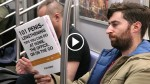 Dude Reads Book With Fake Covers on The Subway And Catch Some Hilarious Reactions