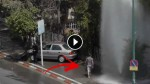 Car Hits A Fire Hydrant, Then This Guy Walks Onto The Scene And Does Something No One Expected!