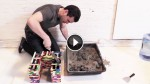 He Pours Concrete Into A Stack Of Legos. When He Takes Them Off, The Result Is Perfect
