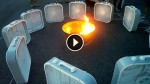 He Puts Some Fans Around A Campfire. When He Turns Them All On? Mind-Blowing!