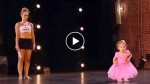 2 year old girl follows mom onto the stage. When the judges see what she does? STUNNING!