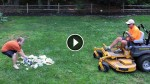 Psycho Dad Shreds His Sons' Video Games With a Lawn Mower!