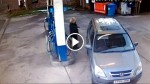 This Lady Stops to Get Some Gas at Station, But What She Ends Up Doing Left Me in Stitches!