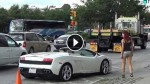 The Power Of The Lambo. It's Crazy What This Car Is Capable Of Doing!