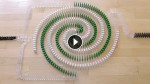 It Took Him Over 3 Months To Create This Domino Arrangement. The End Result Is Stunning!
