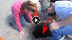 They Heard Cries Coming From A Manhole. And You Won't Believe What They Found In It
