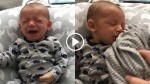 Baby Won't Stop Crying When Mom is Away, Then He Smells Her Shirt…