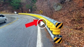 This Seems To Be Just An Ordinary Roadside Barrier, But How It Works Is Actually BRILLIANT!