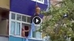 Busted Lover Tries To Escape Through The Window And Fails Miserably
