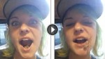 Pretty Girl Has An Ugly Suprise Hiding In Her Mouth …WTF?!
